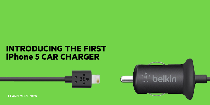 Car Charger with Lightning connector for iPhone 5